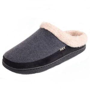Alpine Swiss Mens Memory Foam Clog Slippers Fleece Fuzzy Slip On House Shoes