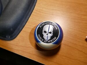 Blue Lives Matter Billiards Ball Knob Dillon Hornady RCBS Reloading Presses