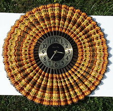 "VTG Sunburst Starburst Wall Clock Beautivue Patented 1977 Big 25"" Tested working"