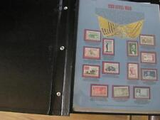 World of Stamps 227 Civil War Rockwell Circus Audubon 3D Zodiac Album 22 pages