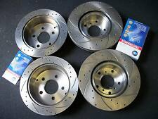 Full Set DRILLED & SLOTTED Disc Rotors+Brake Pads for Holden Statesman WH WK WL