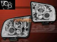 05-09 FORD MUSTANG DUAL CCFL HALO RIM PROJECTOR HEADLIGHTS CHROME