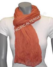 Foulard Rouge Orange grand gros 110x170 femme mixte chale echarpe NEUF scarf red