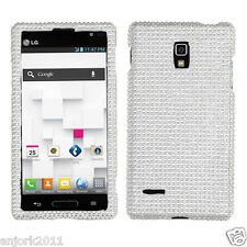 LG Optimus L9 T-Mobile P769 Diamond Case Cover Accessory Solid Silver
