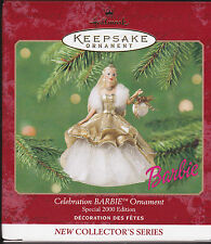 2000 Hallmark Celebration Barbie Special Edition Series Ornament Dated Nib New