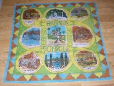HEARST CASTLE CALIFORNIA GOTHIC ROOM NEPTUNE ROMAN POOL DOILY  WOMANS SCARF ART