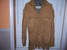 Vintage Oakbrook Sportswear Sears The Men's Store Suede Leather Fringe Jacket 32
