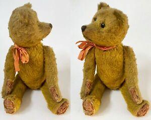 """Antique SCHUCO 1920's """"Yes No"""" TEDDY BEAR 17"""" Mohair & Excelsior Good Original"""