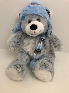 "St Jude's Plush Winter Bear Hugfun InternationalGray Blue 18"""