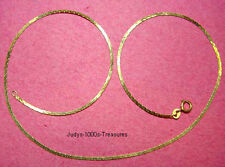 """14k SOLID GOLD C LINK CHAIN 24"""" LIGHT 1.25mm WIDE 3.97gr. MADE IN ITALY"""