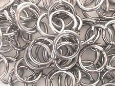 """Ring Split 15mm pk2 Chrome on brass ⅝"""" Curtain Cord Guide Ring pack2 see details"""