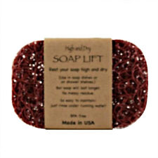 BURGUNDY SOAP LIFT SOAP DISH, THE BEST WAY TO KEEP YOUR SOAP FREE OF MUCK  - NEW
