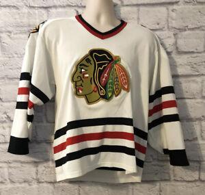 Vintage CCM Chicago Blackhawks NHL Hockey Jersey White Men's sz Medium