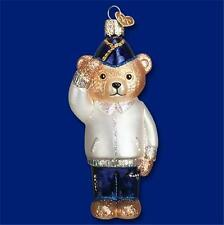 VETERAN BEAR OLD WORLD CHRISTMAS GLASS MILITARY PATRIOTIC ORNAMENT NWT 12444