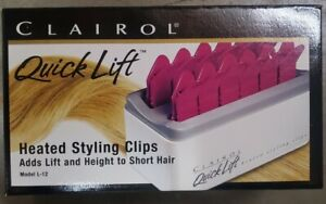 New in Box - Clairol Quick Lift Heated Styling Clips Model L–12