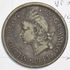 Dominican Republic 1944 1/2 Peso 298151 combine shipping