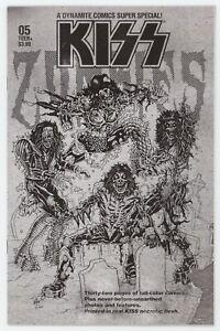 Kiss Zombies 5 Dynamite 2020 NM 1:7 Ken Haeser BW Variant Marvel Super Homage