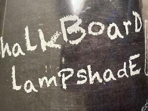 "Chalkboard Lampshade Black Drum Shade 9""X13""X11""  Chalk Finished Fabric Crafting"