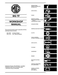 MG TF Workshop Manual OEM REPRINT 763 PAGES IN STURDY A4 FOLDER 2002-2005