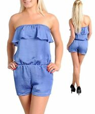 Blue Rompers w/elastic waist & ruffles. Size Medium.