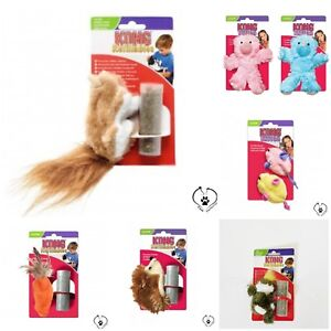 KONG Refillable Catnip Cat Kitten Toys Hedgehog Carrot Beaver Squirrel Teddy