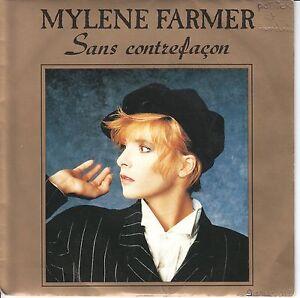 "Mylene Farmer  7"" Vinyl Single  SANS CONTREFACON  ©  1987"