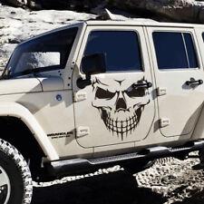 "18"" Black Skull Hood Decal vinyl large Graphic sticker Car Truck window Nice"