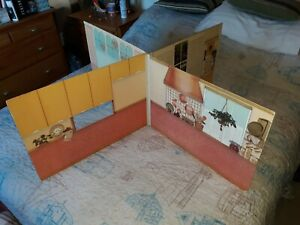 Vintage 1979 Marx Sindys World Scenesetter Four Rooms Equally Sized Doll House