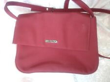 Ladies Deep Red Purse With Shoulder Strap By St Johns Bay