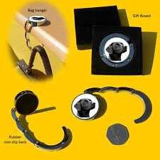 Labrador Retriever Black Dog Chrome Round Shape Bag Hanger Gift Box