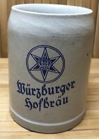 Vintage Wurzburger Hofbrau Stoneware Beer Stein Mug 0.5L Made In Germany