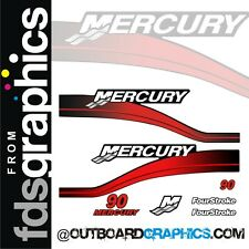 Mercury 90hp four stroke outboard graphics/sticker kit