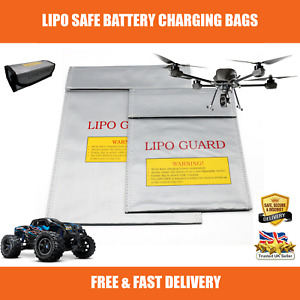 Strong Lipo Battery Fire Safe Charging Bag Fireproof Storage RC Cars Drones UK