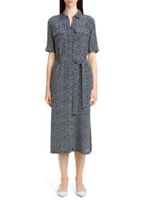 LAFAYETTE 148 NEW YORK Doha Short Sleeve Silk Shirtdress (size XL)