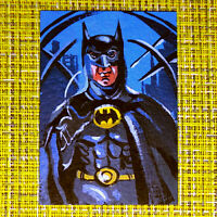 Batman original painting 1/1 signed sketch card