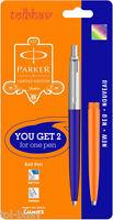 Parker Jotter Standard CT Ball Point Pen Grey Black Blue Orange body & barrel BP