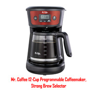 12-Cup Programmable Coffeemaker Stainless Steel With Strong Brew Selector