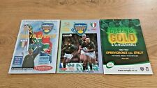More details for south africa v italy 2001 - 2010 rugby union programmes