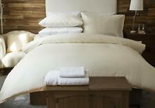 Belledorm 540 Thread Count Egyptian Cotton Satin Stripe Bed Linen In Ivory