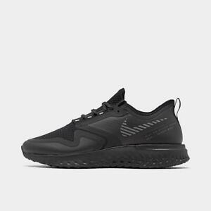 Nike Men's Odyssey React 2 Shield Running Shoes Black/Silver BQ1671-001 Size 9.5