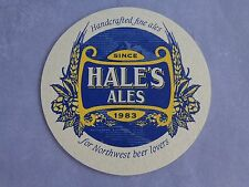 Beer Coaster >< HALE's Ales Handcrafted Since 1983 >< WASHINGTON State Locations