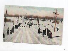 Carte postale SPORTS D'HIVER. Luge Tobogan Track on Mount Royal MONTREAL