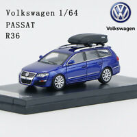 VW Volkswagen 1/64 Passat R36 Wagon with Roof Box Diecast Model Car Collectible