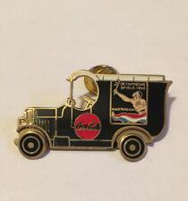 1996 Atlanta Olympic Coca-Cola Amsterdam 1928 Truck Moving Wheels Pin Badge