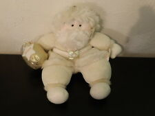 "RARE 12"" First & Main KRINGLCLAUS Santa Claus White BELIEVE Plush (75)"