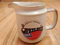 """Vintage Nashville Tennessee OPRYLAND County Music Gravy Cup Syrup cup 3.5"""" Tall"""