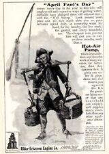 1903 ad Vintage Rider Ericsson Engine Old Man Water boy Lackawanna Railroad Art