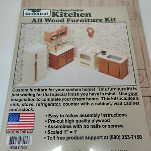 """Kitchen Dollhouse Furniture Kit - Scaled 1"""" = 1' by Greenleaf Dollhouses"""
