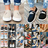 Womens Ladies Pumps Slip On Flat Loafers Sneakers Trainers Casual Boat Shoe Size