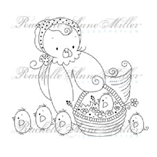 New Stampavie NEWLY HATCHED Clear Stamp Spring Chick Rachelle Anne Miller Easter